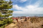 Sit out and just enjoy watching Lake Superior and her many moods or enjoy a meal at the table.